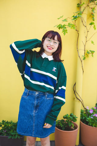 [9/23(水)21:00~販売開始]long rugger shirt(green)【original】