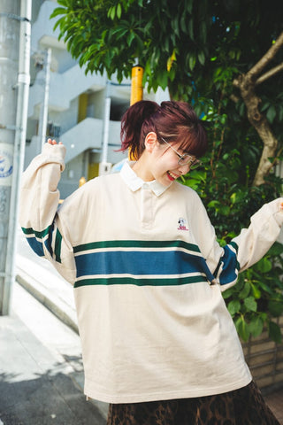 [9/23(水)21:00~販売開始]long rugger shirt(beige)【original】
