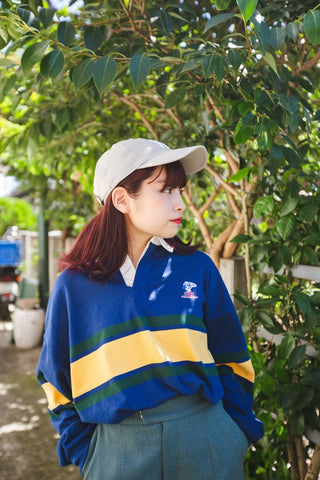 [9/23(水)21:00~販売開始]long rugger shirt(navy)【original】