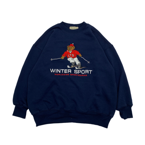 WINTER SPORT Navy Sweat【used】