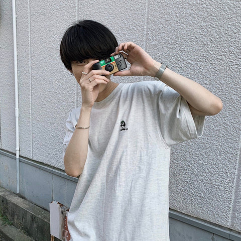 【6/16 21:00 限定販売】ruler-kun green patch tee(オートミール)【original】
