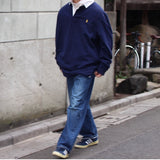 polo rugger shirts (navy)【used】