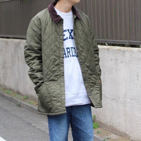 Barbour quilting jacket(khaki)【used】
