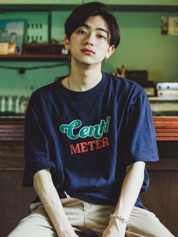 "【7/4 21:00 受注販売】centimeter beer ""stay cool"" tee  (ネイビー)【original】"