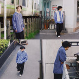 【2点セット】fisherman shirts + slacks code set【used】