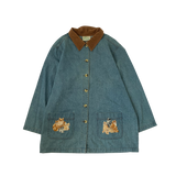 Embroidery Denim Coat【used】v