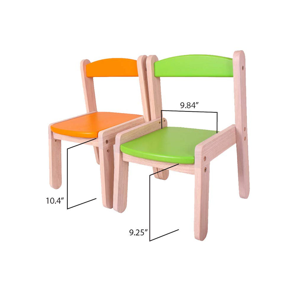 Stacking Chair for Kids (1-5 Years) - Light, Durable Multipurpose Chair with Back Support and Adjustable Seat Height, Yellow Colour