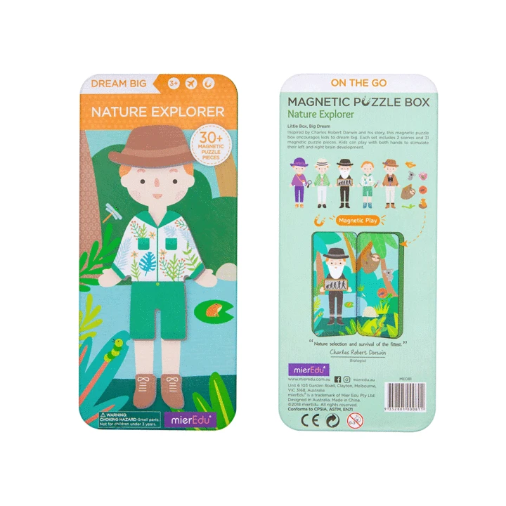 Magnetic Puzzle Box - Nature Explorers - Age 3+