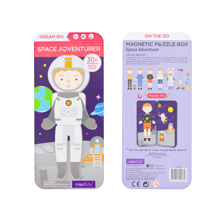 Magnetic Puzzle Box - Space Adventurers - Age 3+