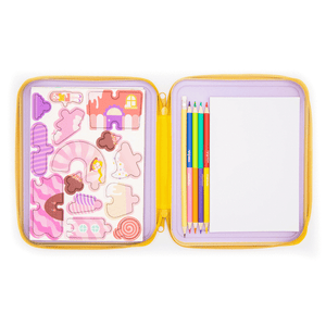 Puzzle & Draw Magnetic Kit - Candy House - Age 3+