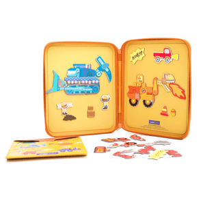 Puzzle & Draw Magnetic Kit - Diggersaurs - Age 3+