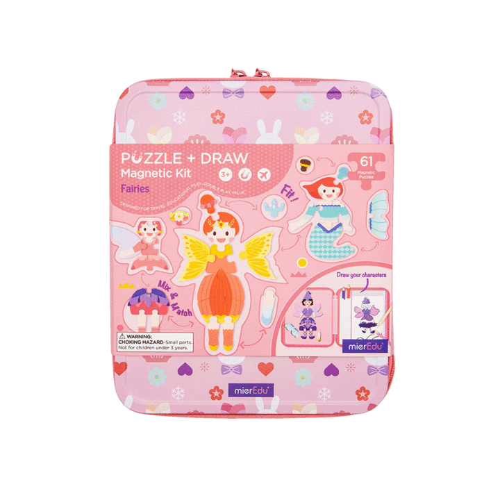 Puzzle & Draw Magnetic Kit - Fairies - Age 3+