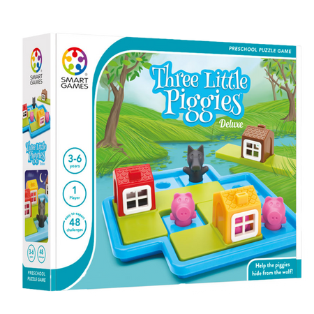 THREE LITTLE PIGGIES DELUXE-Logical Game-Ages 3- 6