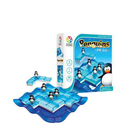 PENGUINS ON ICE-Logical Puzzle Game-Age 6+