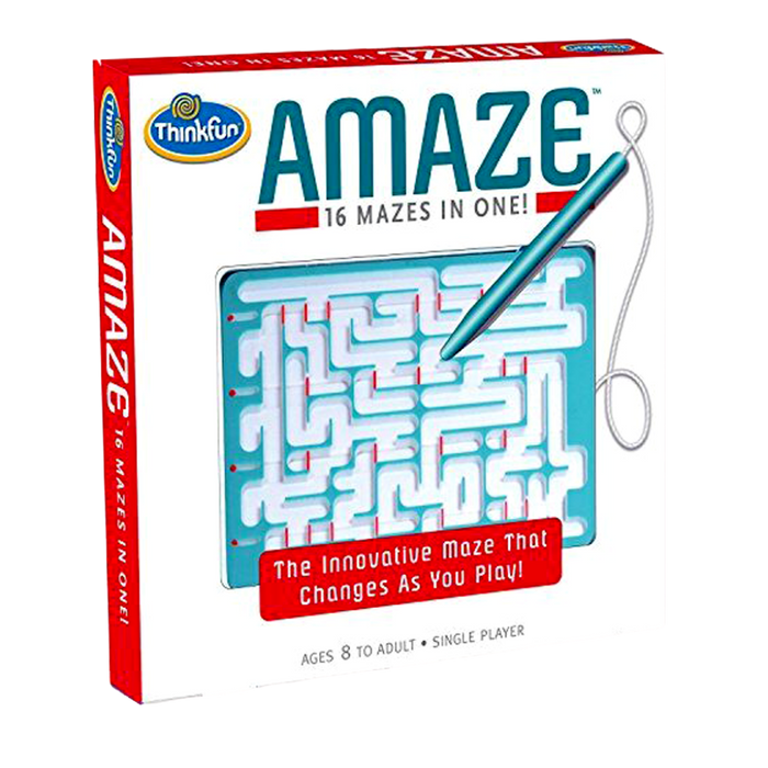 Thinkfun-Amaze Moving Maze Puzzle Toy-16 Mazes- Travel Toy For the Age 8 and up