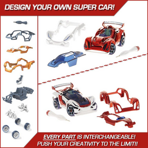 Modarri T1 Track Car Set-Mix and Match Designs for age 6 and up