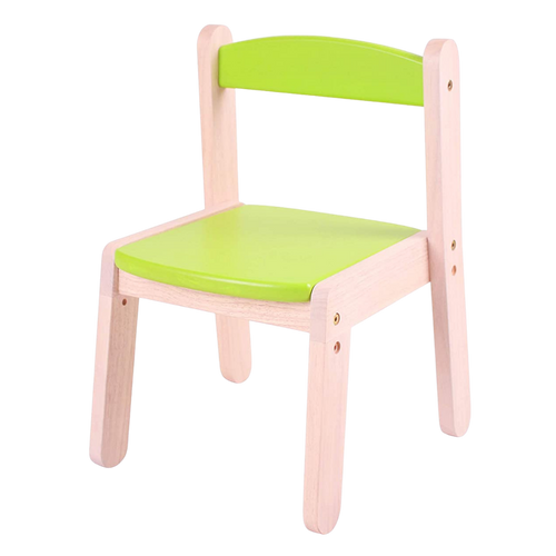 Stacking Chair for Kids (1-5 Years), Light and Durable Multipurpose Chair with Adjustable Seat Height and Back Support, Green Colour