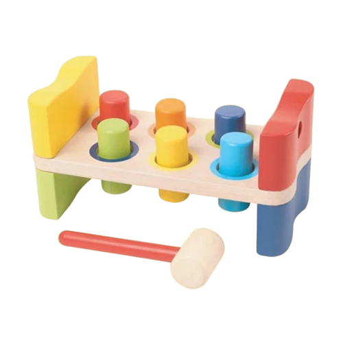 Hammer Bench - Wooden Toy - Age 12 mos+