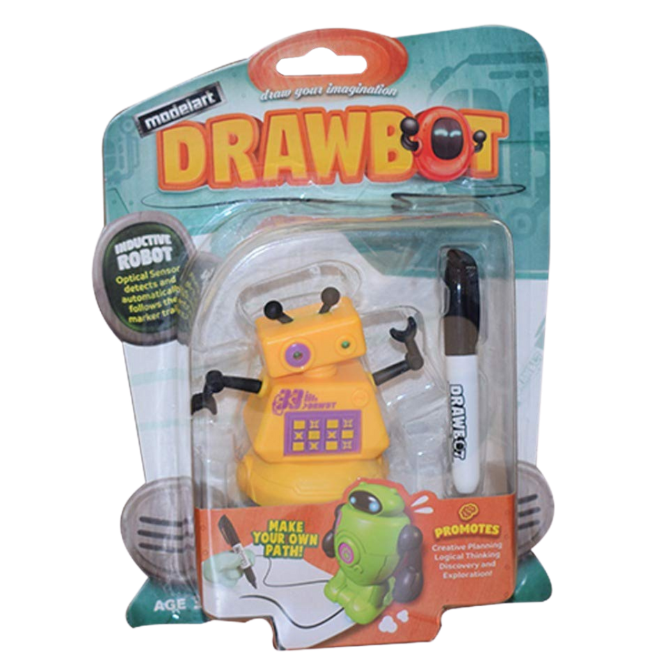 Drawbot Line Tracker Robot Yellow Color for the age 3 and up