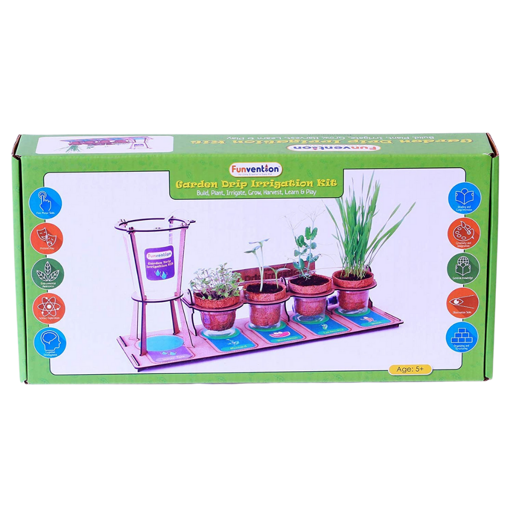 Funvention Garden Drip Irrigation Kit DIY Science Educational Toy, STEM Learning Kit for the age 5 and up
