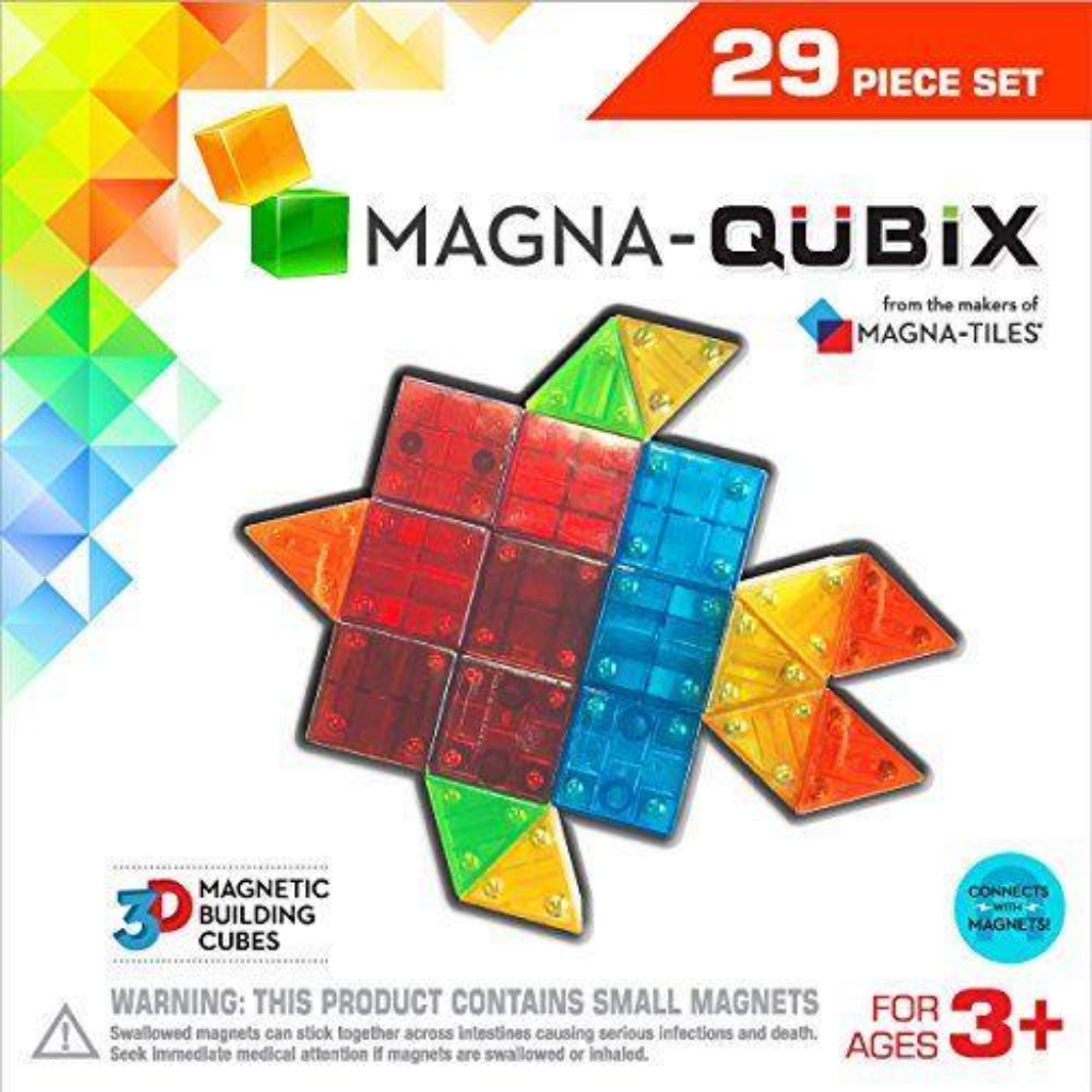 Magna Qubix Clear Colors 29 Pcs Magnetic Set for the age 3 and up