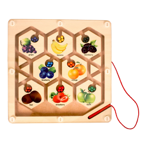 Fruit Maze Board - Wooden Toy - Age 2+