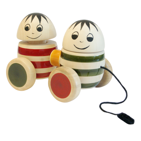 Bobblers Hup Dup - Wooden Pull Toy - Age 18 months