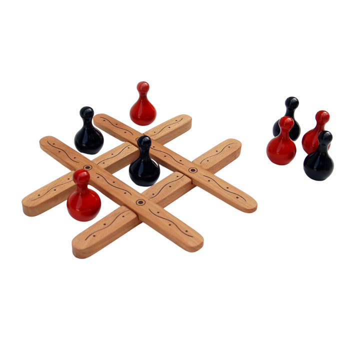 Tic Tac Toe - Wooden Toy - Age 6+