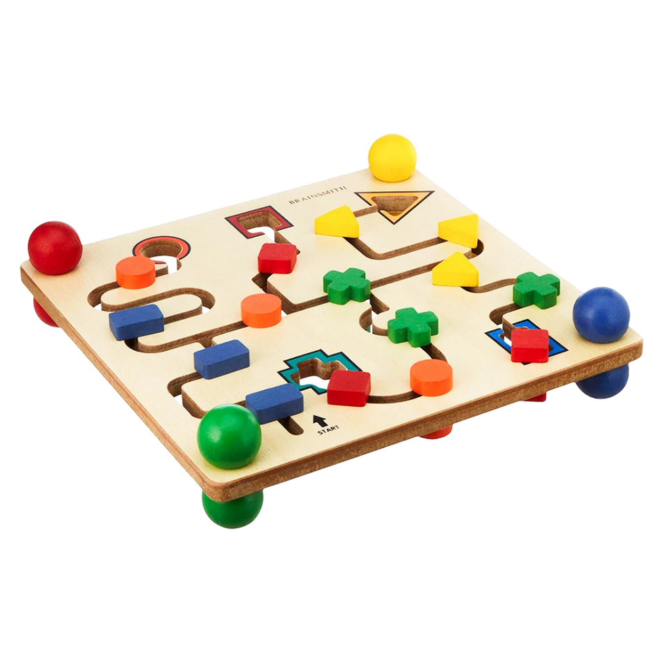 Shape Maze Board - Wooden Toy - Age 2+