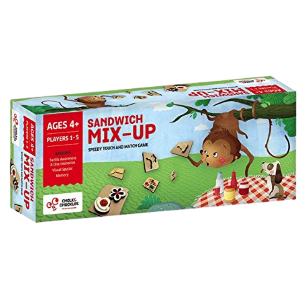 Sandwich Mix-Up -  Speedy Tactile Matching Game - Age 4+