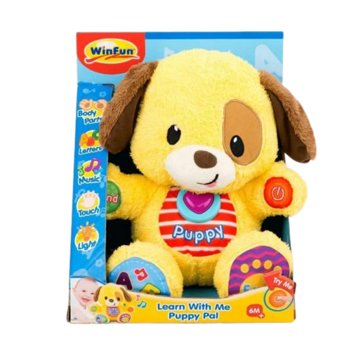 Winfun Soft, cuddly puppy pal with fun learning activities for the age 6 months and up
