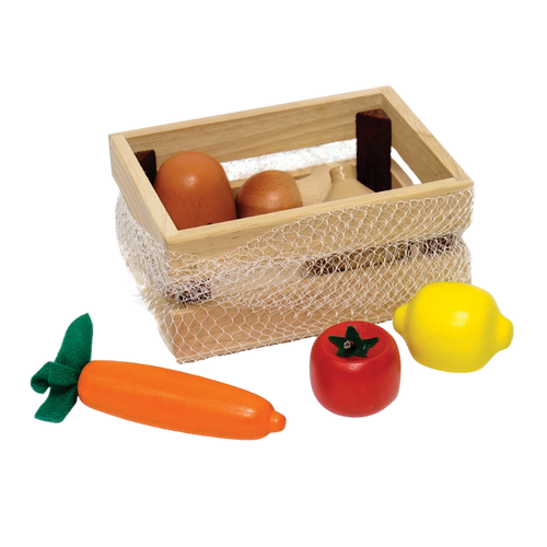 Vegetables in a net - Wooden Toy - Age 2+