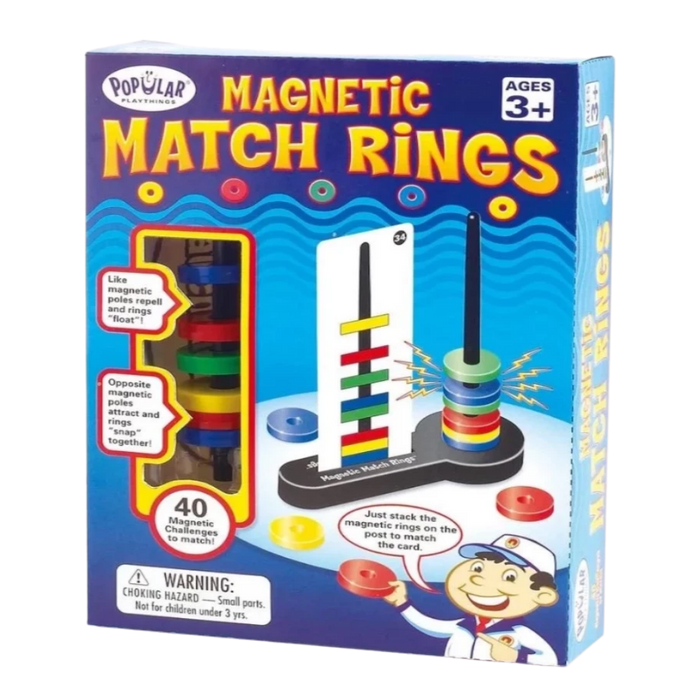 Popular Playthings Magnetic Match Rings fun way to learn magnetism for the age 3 and p