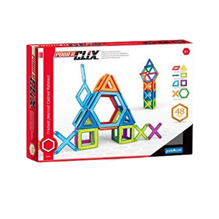 Guide Craft Powerclix Frames 48 pcs Magnetic Construction Set for the age 3 and up