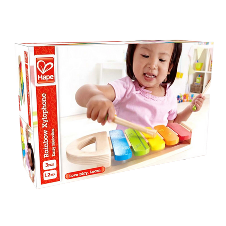 Hape-Wooden Rainbow Xylophone for the age 1 and up