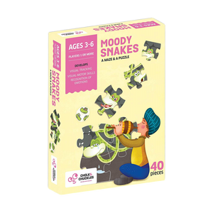 Moody Snakes -Maze & Puzzle - Age 3-6