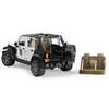 Licensed Jeep Wrangler Unlimited Rubicon Police Vehicle with Policeman and Accessories 1:16 Scale Model for the age 3 and up