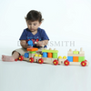 Construction Train - Wooden Toy - Age 12 mos+