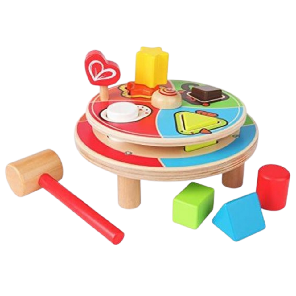Hape Spin Animal Pounder - Wooden Toy for the age 18 months+