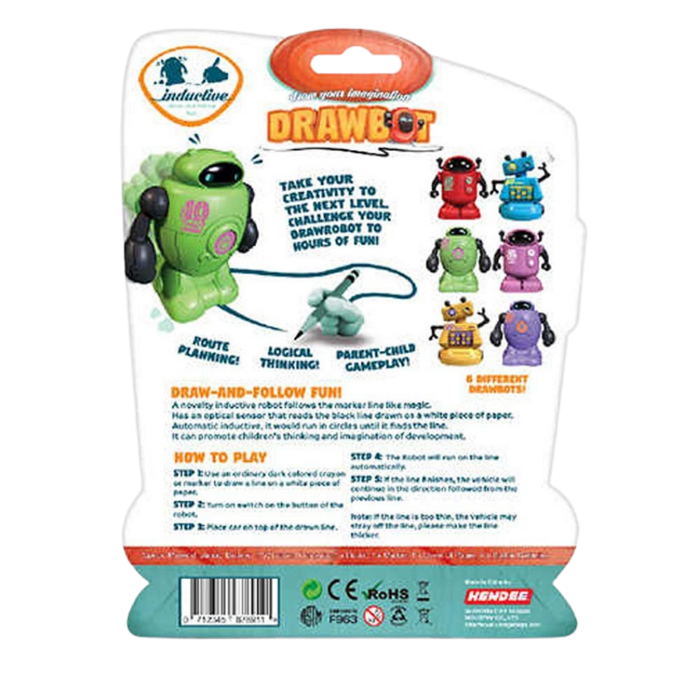 Drawbot Line Tracker Robot Green Color for the age 3 and up