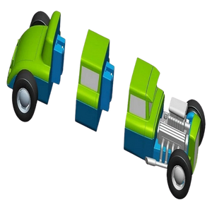 Popular Playthings Mix or Match Vehicles 1+3 for the age 3 and up