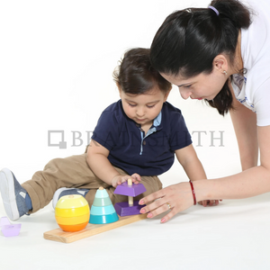 3D Shape Builder Wooden Toy  - Age 12 mos