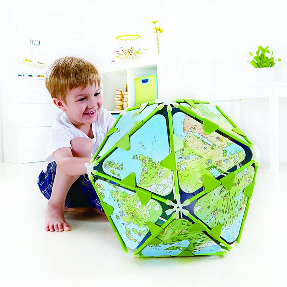 Hape Bamboo Globe Architetrix Set for the age 4 and up