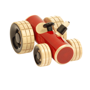 Trako Red - Wooden Tractor Toy - Age 1+