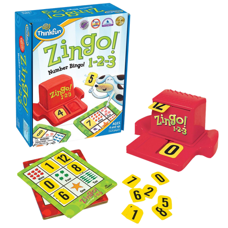 Thinkfun-Zingo 1-2-3-Reading and Counting Kids Math Game-for the age 4 and up