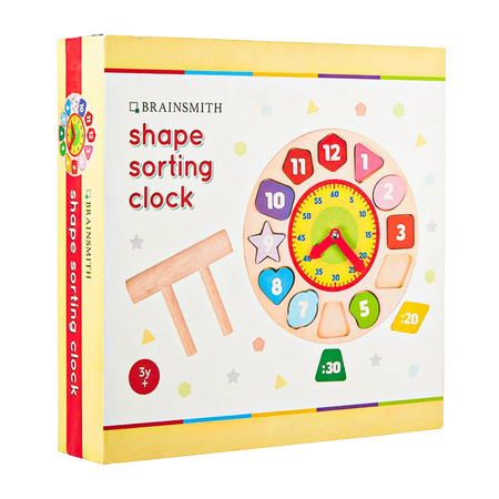 Shape Sorting Clock - Wooden Toy - Age 3+
