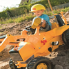 Rolly Toys Junior Cat Construction Pedal Tractor with Backhoe Loader for 3 and up