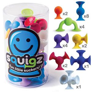 Fat Brain Squigz Starter Kit 24 pcs Suction Construction set for the age 3 and up