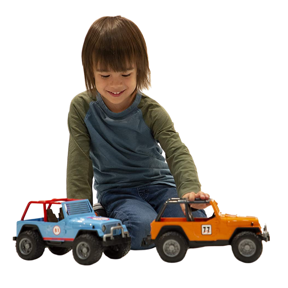Licensed Jeep Cross Country Racer with Blue Racer 1:16 Scale Model for the age 3 and up