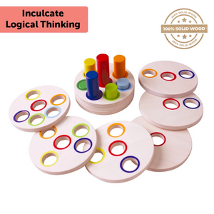 Logic Stacking - Wooden Toy - Age 3+